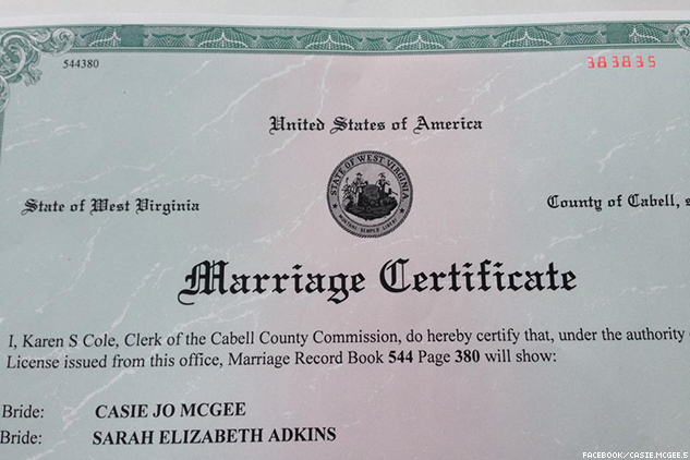 What is the marriage licensing process in West Virginia?