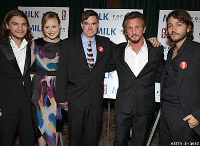 Stars, No on 8             Supporters Turn Out for S.F. Milk Premiere