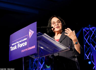 Labor Leader             Dolores Huerta Opens Creating Change Conference