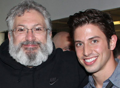 Backstage at La Cage with Nick Adams
