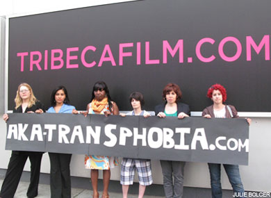 Tribeca Protested for Ticked Off Trannies With Knives