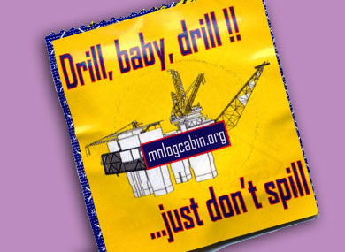 Log Cabin Condoms Promote Offshore Drilling