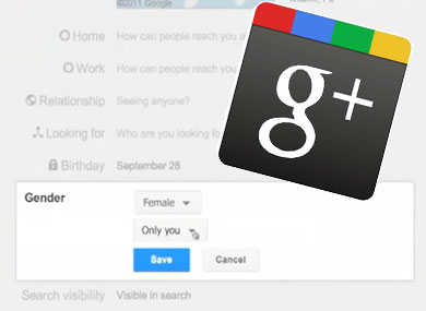Google+ Goes Gender Neutral