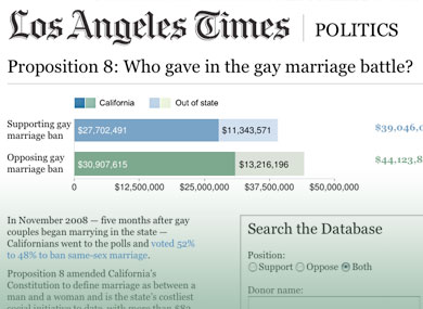 Search the Prop. 8 Database