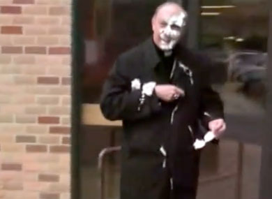 Archbishop Gets Pies in Face
