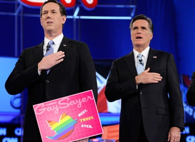 Best Tweet Ever: Romney Plays Devil, Santorum Plays God