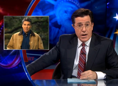 Stephen Colbert Rips Rick Perry for Antigay Ad