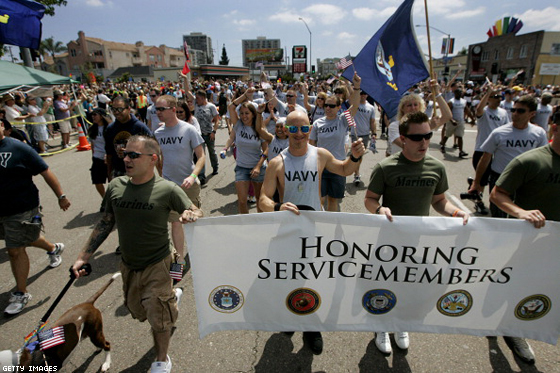 Milestone: Gay Servicemen March in Pride Parade