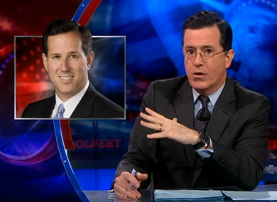 Stephen Colbert Evaluates Rick Santorum's Cred as a Homophobe