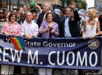 Cheers for Cuomo at NYC Gay Pride March