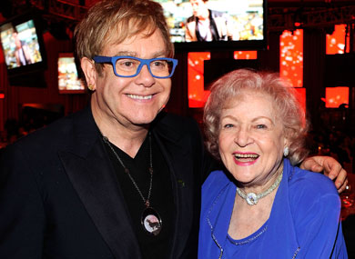 Betty White Honors Elton John's Birthday With Crocodile Adoption