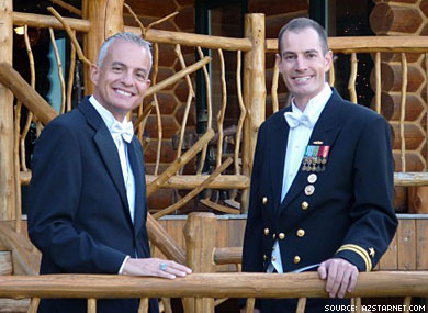 Navy Wedding Celebrates DADT Repeal