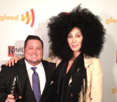 Cher, Chaz Wow at L.A. GLAAD Awards