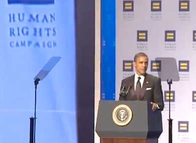 Obama's Remarks at 15th Annual HRC National Dinner