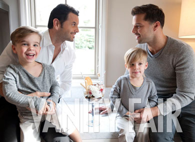 Ricky martin poses with partner and children ricky martins photo shoot with his partner and children m4hsunfo