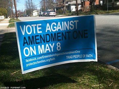 Individual Donors Fueling Fight Against Amendment One