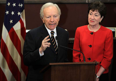 Lieberman, Collins Domestic Partnership Bill Moves Forward