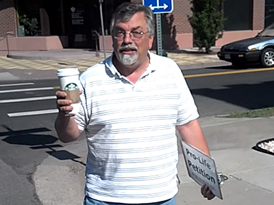 Colorado Pastor Bob Enyart Dumps Starbucks Coffee Into Sewer