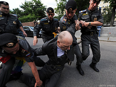Moscow Police Break Up Gay Protests, Detain 40