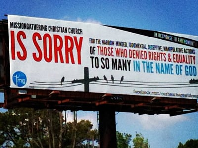 See the Billboard Apology a Church Bought in North Carolina