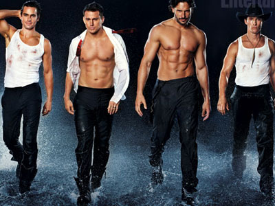 WATCH: Channing Tatum and Magic Mike Cast Strip to 'It's Raining Men'