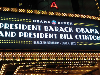 Obama Gets Standing Ovation on Broadway