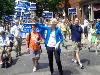 Elizabeth Warren Makes It Clear She's Different from Scott Brown on LGBT Rights