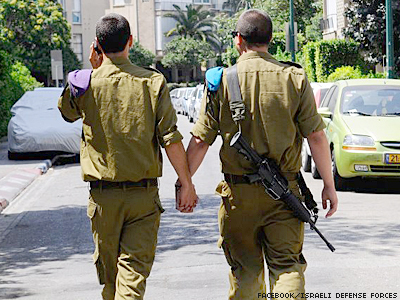 Israel's Military Proudly Posts Photo of Two Soldiers Holding Hands