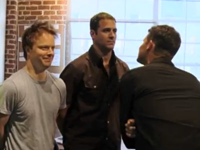 WATCH: Daniel Tosh Gets Inappropriate With Male Coworkers