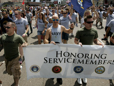 A First: Pentagon Says Troops Can Wear Uniforms in Gay Pride Parade