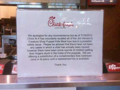 Chick-fil-A's Odd Explanation for the Missing Kids Meal Muppets
