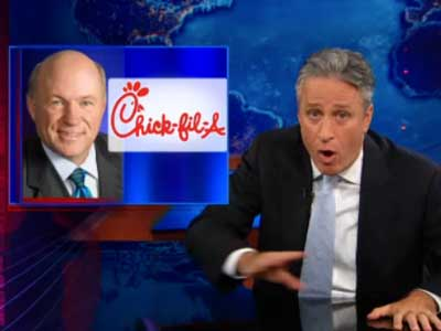 Jon Stewart Takes Down Chick-fil-A President's Antigay Logic