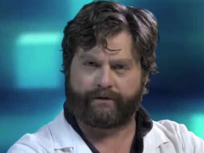 WATCH: Zach Galifianakis  Speaks From the Future About the End of AIDS