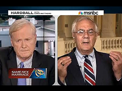 Barney Frank Argues on Hardball Over Marriage Equality Stance