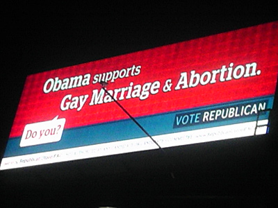 New Billboard Attacks Obama Supporting Marriage Equality