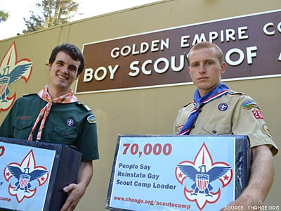Fired Eagle Scout Meets With Scouting Officials, Presents 70,000-Signature Petition