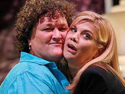 Kristen Johnston Fights Off the Advances of Dot-Marie Jones