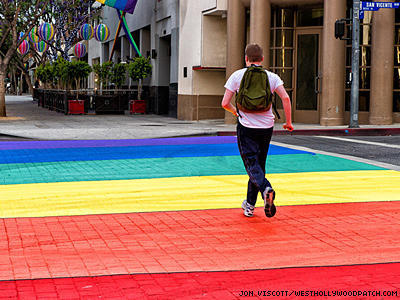 West Hollywood Makes Rainbow Crosswalks Permanent