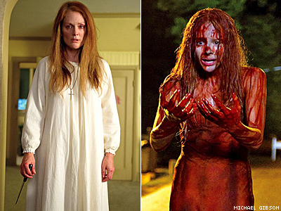 First Look Carrie Remake With Julianne Moore Chloe Grace