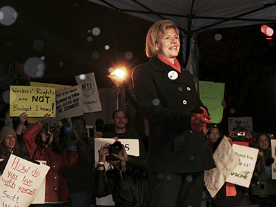 Tammy Baldwin's Senate Bid Gets Support From Howard Dean