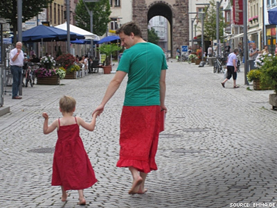 Dad Wears Dress in Solidarity With Dress-Loving Son