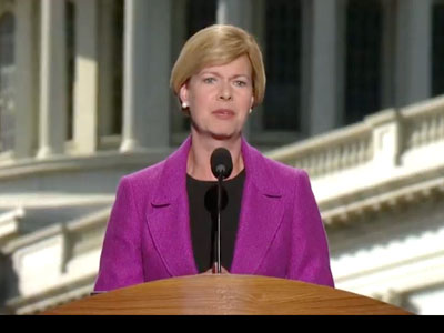 DNC: Baldwin Talks Economy, DADT, Wisconsin Marriage Ban