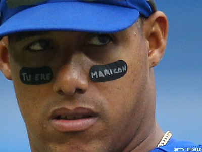 Blue Jays' Yunel Escobar Suspended for Playing With Gay Slur Written on Face