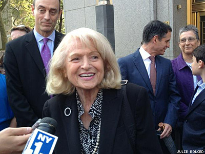 Edie Windsor, Elderly Lesbian Widow, Makes Case in Federal Appeals Court