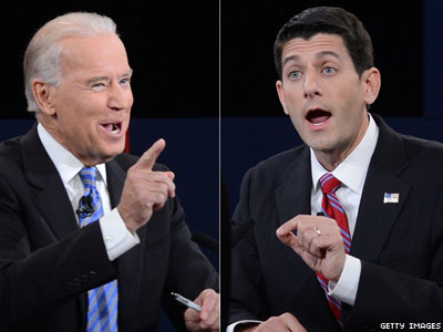 Biden Claims to Hold the Facts, Laughs at Ryan