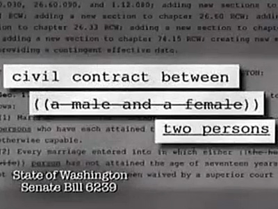 Marriage Equality Foes Launch First Ad in Washington