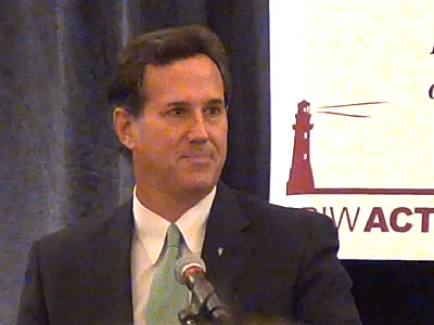 WATCH: Rick Santorum Makes a Joke of His Campaign for President