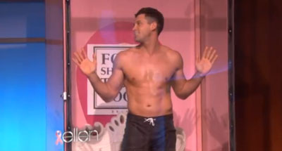 Shirtless DWTS Star Maksim Chmerkovskiy Gets Wet for Charity