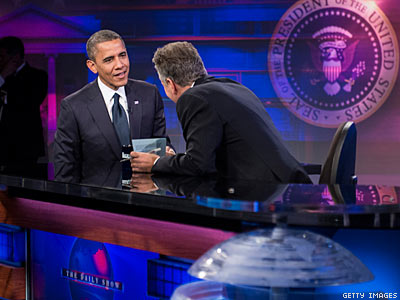 Obama Gets Big Applause on The Daily Show for Supporting LGBT Rights