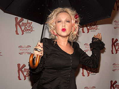 Cyndi Lauper and Harvey Fierstein Get Kinky in Chicago